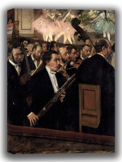 Degas, Edgar: The Orchestra at the Opera. Fine Art Canvas. Sizes: A4/A3/A2/A1 (003768)